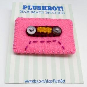 Cassette Tap Brooch
